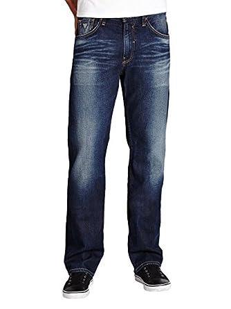 GUESS Men's Regular Straight Jeans in Davison Wash