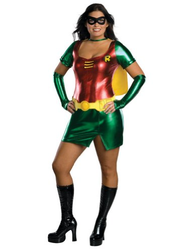 Adult-Costume Sexy Robin Plus Size Halloween Costume - Adult Plus