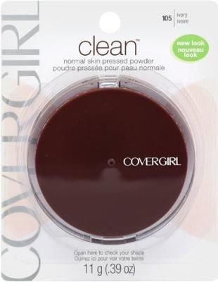 CoverGirl Clean Pressed Powder, Normal Skin, Ivory 105