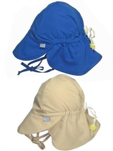 2 Pack Upf 50+ Sun Protection Flap Hats / Beach Hat / Sun Hat By Iplay - Royal - 2-4 Years front-1032143