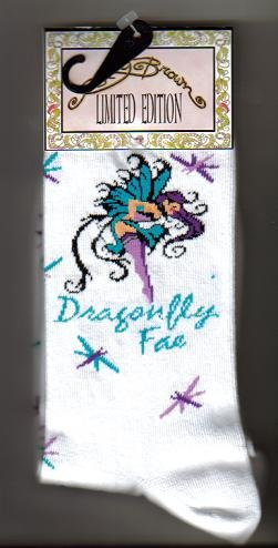 Dragonfly Socks - Artwork by Amy Brown