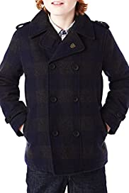 Autograph Double Breasted Pea Coat with Wool [T87-9103A-S]