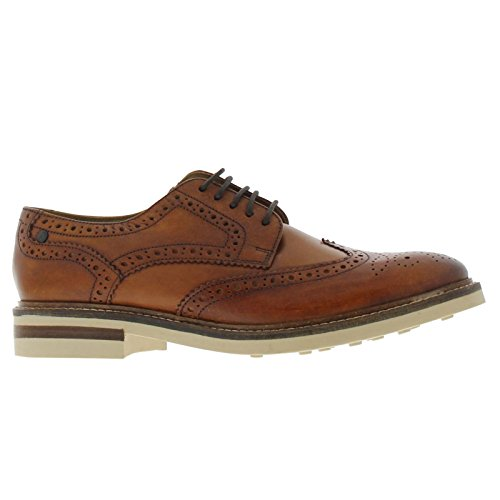 BASE LONDON APSLEY PI13248 tan scarpe uomo pelle derby inglese 41