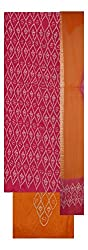 Sajni Dresses Women's Cotton Unstiched Salwar Suit (Pink and Orange)
