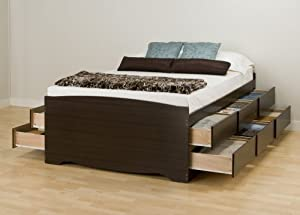 amazon queen bed frame with storage