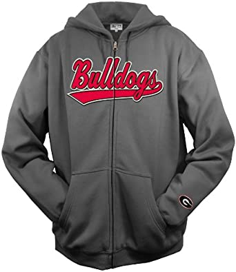 NCAA Mens Georgia Bulldogs Tail Sweep Full Zip Hooded Fleece by SECTION 101 Majestic