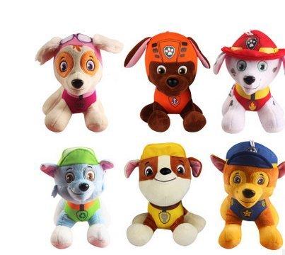 Hot sale 6 pcs/ set Animation paw patrol snow slide Plush Toys doll Small Children Gift 20cm (Paw Patrol Snow Slide compare prices)