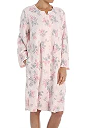 Miss Elaine Sofiknit Quilt in Knit Button Front Robe (356415)
