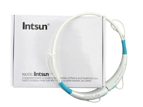 Intsun® Brand New Universal Hbs-740 Bluetooth V4.0 Wireless Bluetooth Stereo Headset Neckband Style Earphone And Handfree Headphones For Cellphones, Such As Iphone, Nokia, Htc, Samsung, Lg, Moto, Pc, Ipad, Psp & Any Bluetooth Enabled Device, Multiple Colo