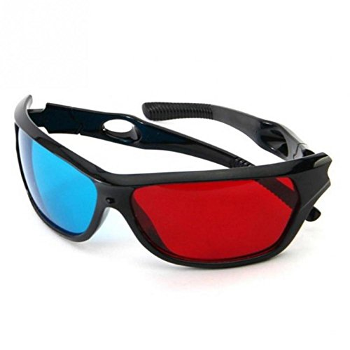 Single Night 2016 Arriving Red Blue 3D Glasses Anaglyph Framed 3D Version Glasses For Video Game TV Theatre Movies