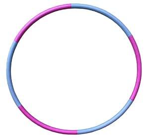 Fitness-Mad Standard Hula Hoop - Multicoloured, 1.1 Kg