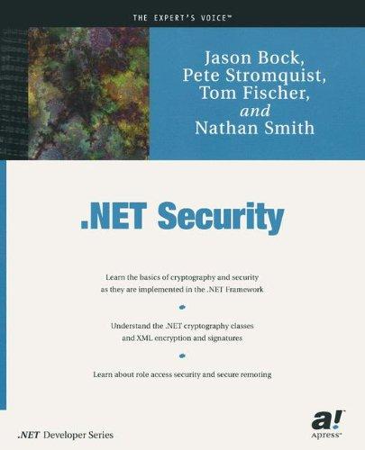 .Net Security (.NET developer series)