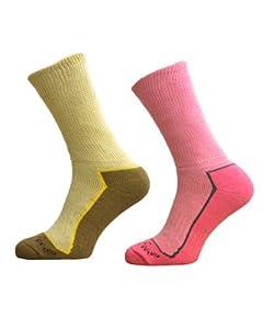 2 Pairs Womens Ultimate Walking Socks By Freshfeel Size 4-7