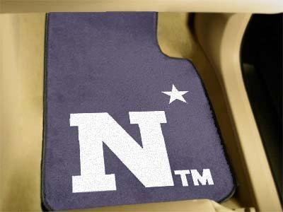 Fanmats Ncaa Us Naval Academy Midshipmen Nylon Face Carpet Car Mat