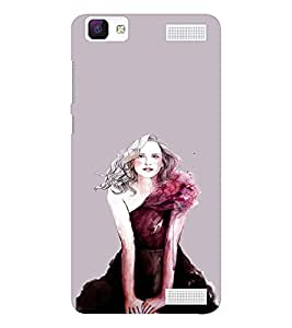 EPICCASE Supermodel Mobile Back Case Cover For Vivo V1 Max (Designer Case)