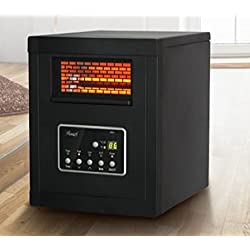 Rosewill 1500-Watt Infrared Cabinet Large Room Heater with Remote Control (Black)