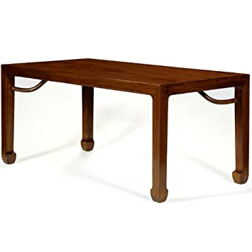 Ming Dining Table, Warm Elm