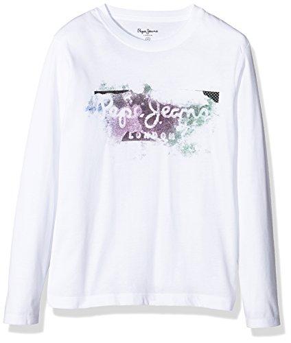 Pepe Jeans Goodge Jk, T-Shirt Bambino, Bianco (Optic White), 12 Anni (Taglia Produttore: 12 Ans )