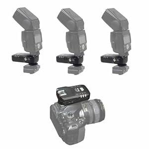 Pixel KING TTL Funk-Blitzauslöser Set für 3 Blitze (3x Empfänger) bis zu 100m für Nikon Blitzgeräte und Nikon DSLR