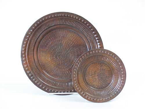 Set of Hand-hammered Copper Plates