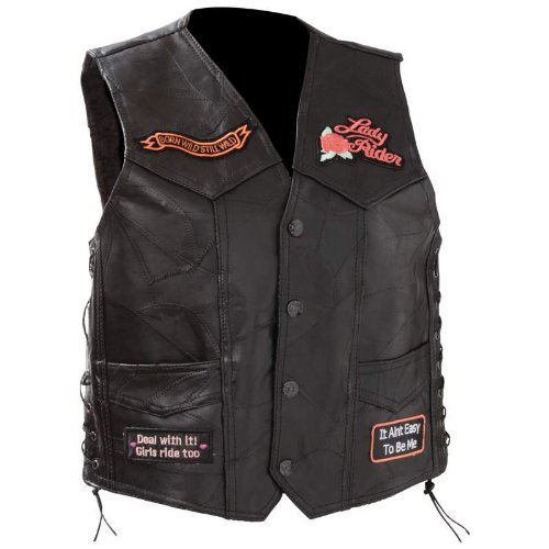 Standout Vests Exclusive Motorcycle Rock Leather Ladies Vest-M Incomparable