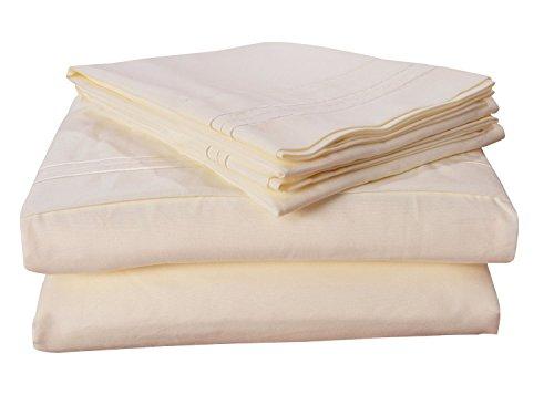 Honeymoon-1800T-Brushed-Microfiber-3PC-Bedding-Sheet-Set-Sheet-Pillowcase-Sets-Twin-Ivory