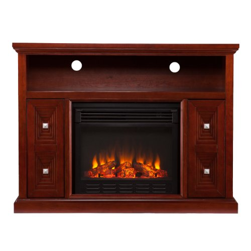 Southern Enterprises AMZ8939FE Cutler Media Console/Stand Electric Fireplace, Cherry picture B00FPHPX96.jpg