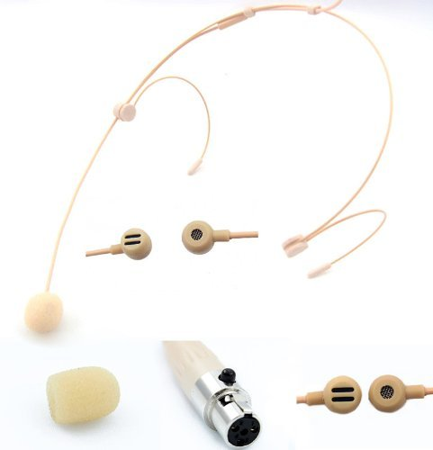 Pro Headset Headworn Microphone Jk Mic-J 092 For Shure Wireless Transmitter- Noise Cancelling Condenser Mic