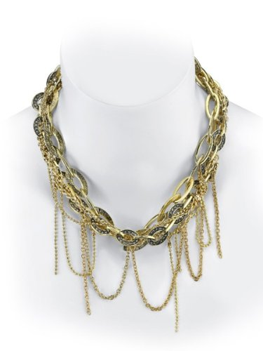 Belle Noel By Kim Kardashian Mulit Chain Nugget Necklace - Gold