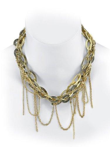 Belle Noel By Kim Kardashian Mulit Chain Nugget Necklace - Gold