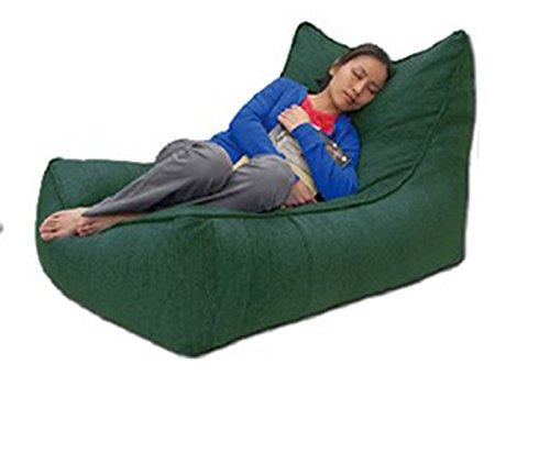 Lazy Sofa Bed Nap Recliner Kreative Schlafzimmer Balkon Recliner einzigen Sitzsack Sofa ( Farbe : Green Forest )