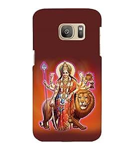 printtech Shera Wali Mata Goddess Back Case Cover for Samsung Galaxy S7 edge :: Samsung Galaxy S7 edge Duos with dual-SIM card slots