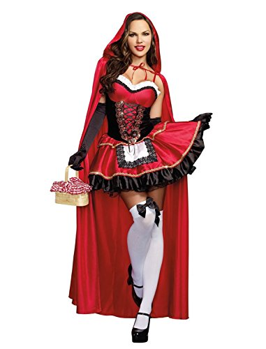 McDonalnd chic Women's Little Red Riding Hood Costume (Homemade Costumes For Plus Size Women)