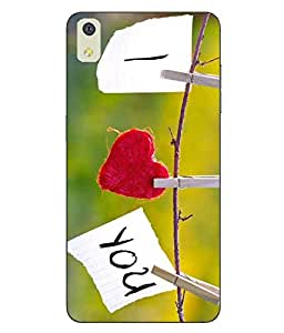 Case Cover Love Printed Soft Back Cover For LYF WATER 8
