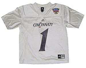 Cincinnati Bearcats #1 Adult White Replica Sugar Bowl Jersey by adidas