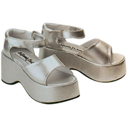 Child's Silver Diva Halloween Costume Shoes (Size: Small)