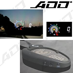 Speed Cluster Head up Display Speedometer HUD Mph Rpm/speed/water Temp/volt