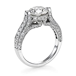 Certified, Round Cut, Solitaire Diamond Ring in 18K Gold / Yellow (2 1/2 ct, J Color, SI1 Clarity)