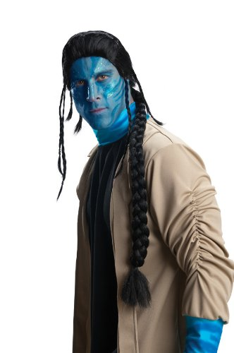 Avatar Jake Sully Wig, Black, One Size - 1