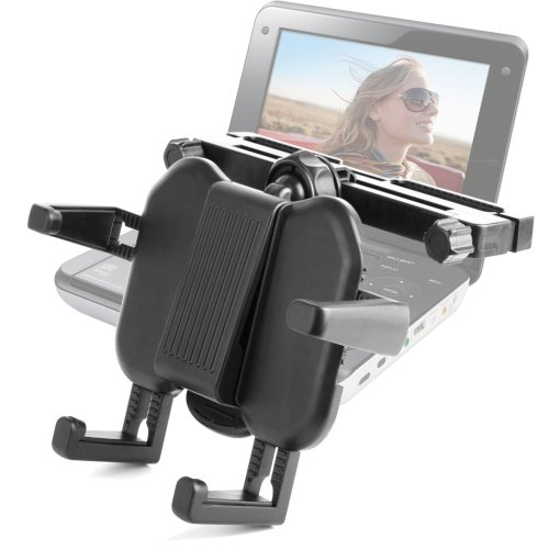 Duragadget Sturdy In Car Wide Headrest And Tray Cradle Mount With Adjustable Grip For Sony Dvp-Fx730, Sony Dvp- Fx820, Sony Dvp- Fx875, Sony Dvp- Fx980, Sony Dvp- Fx720 front-913554