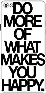 Snoogg Do More Of What Makes You Happy Designer Protective Back Case Cover For Micromax Canvas Silver 5 Q450