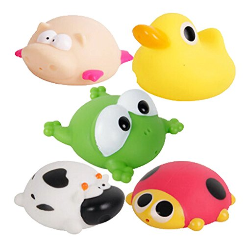 5 Creative Lovely Duck/Frog/Pig/Turtle/Cow Wonderful Baby Squirt Bathtub Toys front-380564