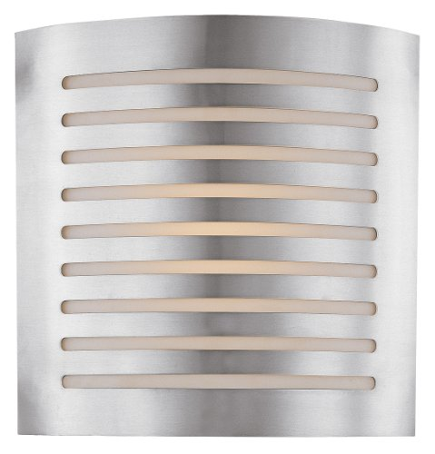 Access Lighting 53340-BS/OPL Krypton ADA 2LT Wall Mount, Brushed Steel Finish with Opal Glass Shade
