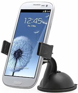 Aduro U-GRIP PLUS Universal Dashboard Windshield Car Mount for Smart Phones, Apple iPhone 5 / 5S / 5C / 4 / 4S / 3G, Samsung Galaxy S2 / S3 / S4, Galaxy NOTE 2, Motorola Droid RAZR / MAXX, HTC EVO 4G, HTC One X, LG Revolution, GPS Holder (Black)
