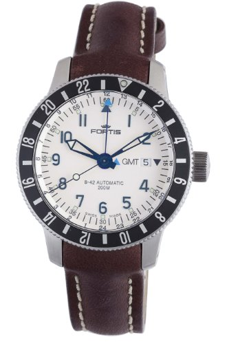 Fortis Men's 650.10.12 L.16 B-42 Diver Automatic Brown Leather Date Watch