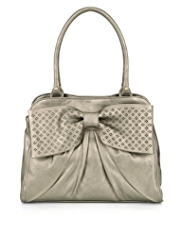 Per Una Patent Bow Cut-Out Tote Bag