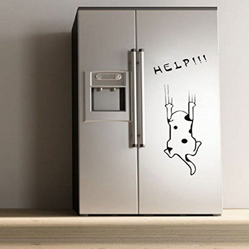 Wall Sticker,Ikevan Fashion Cartoon Cat Pattern Refrigerator Kitchen Cabinet DIY Wall Stickers Room Home Decor 56x27cm (Amplifier Fridge compare prices)