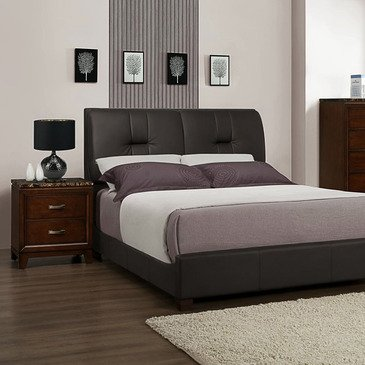 Homelegance Bleeker 2 Piece Upholstered Platform Bedroom Set