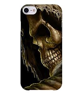 Chiraiyaa Designer Printed Premium Back Cover Case for Apple iPhone 7 (skelton danger) (Multicolor)