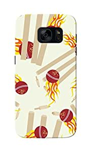 CimaCase Cricket Balls Designer 3D Printed Case Cover For Samsung Galaxy S7